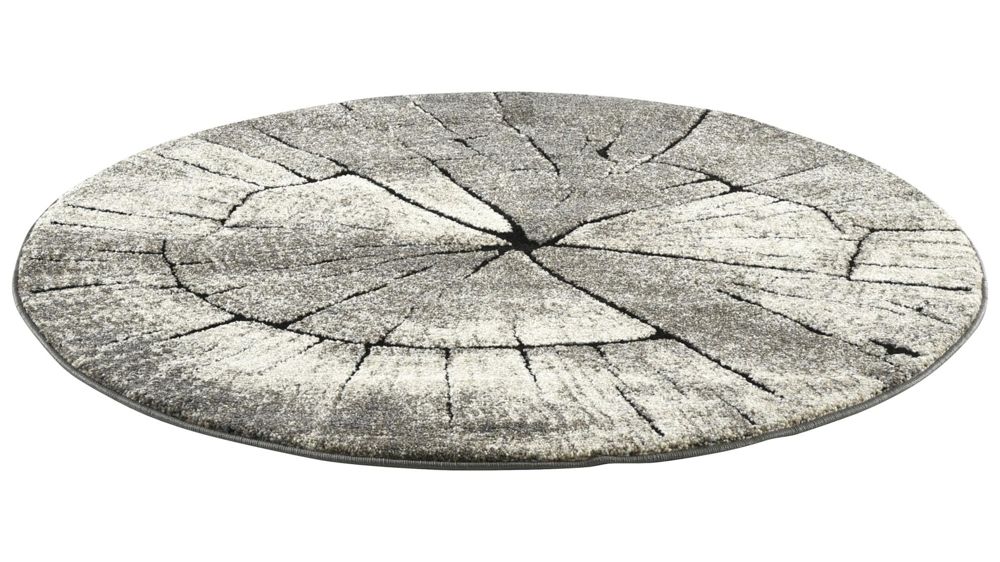 TIMBER matto, 160 x 160 cm (harmaaruskea)