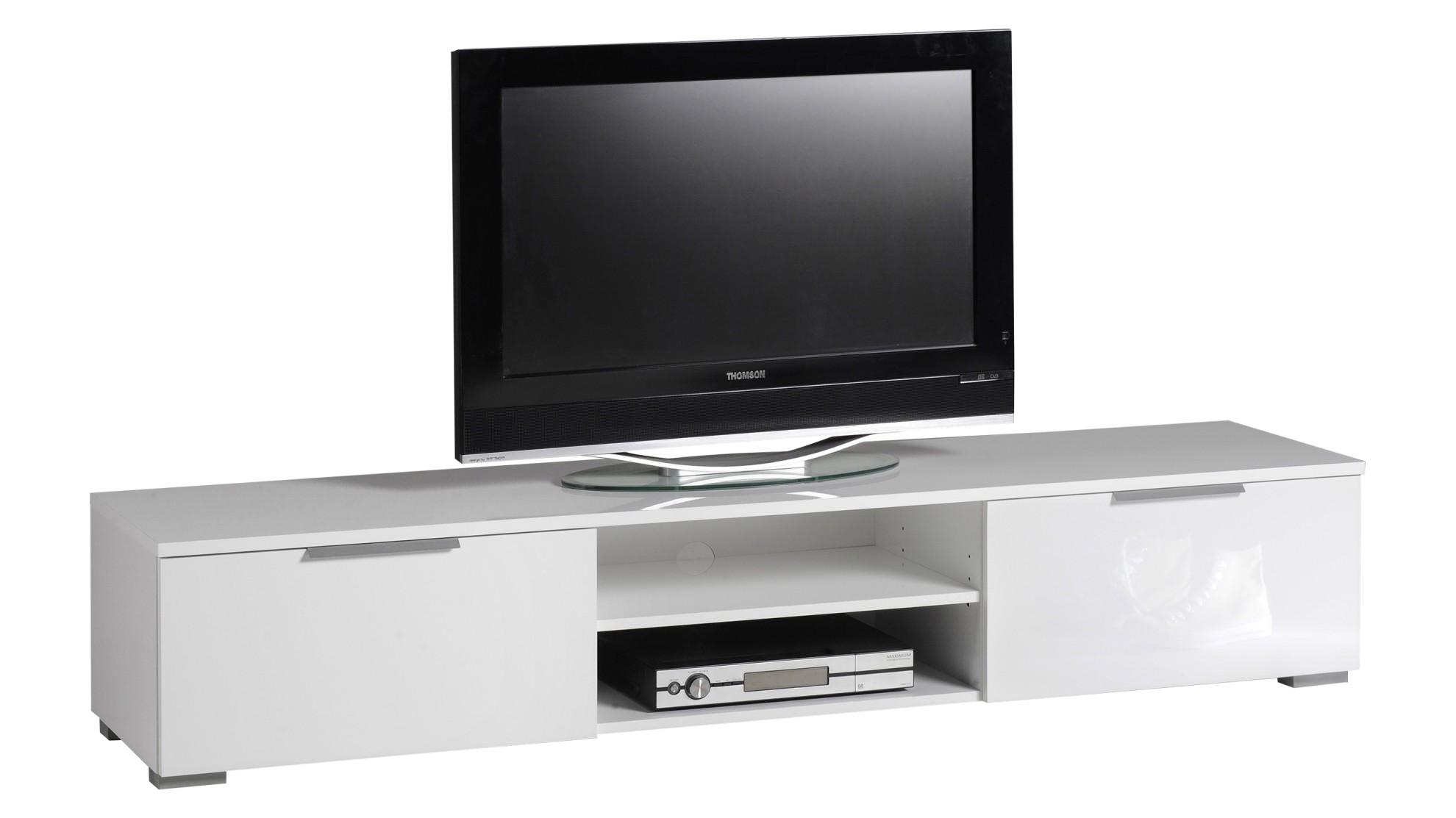TV-taso korkeakiilto valkoinen 80x34x30 cm lastulevy