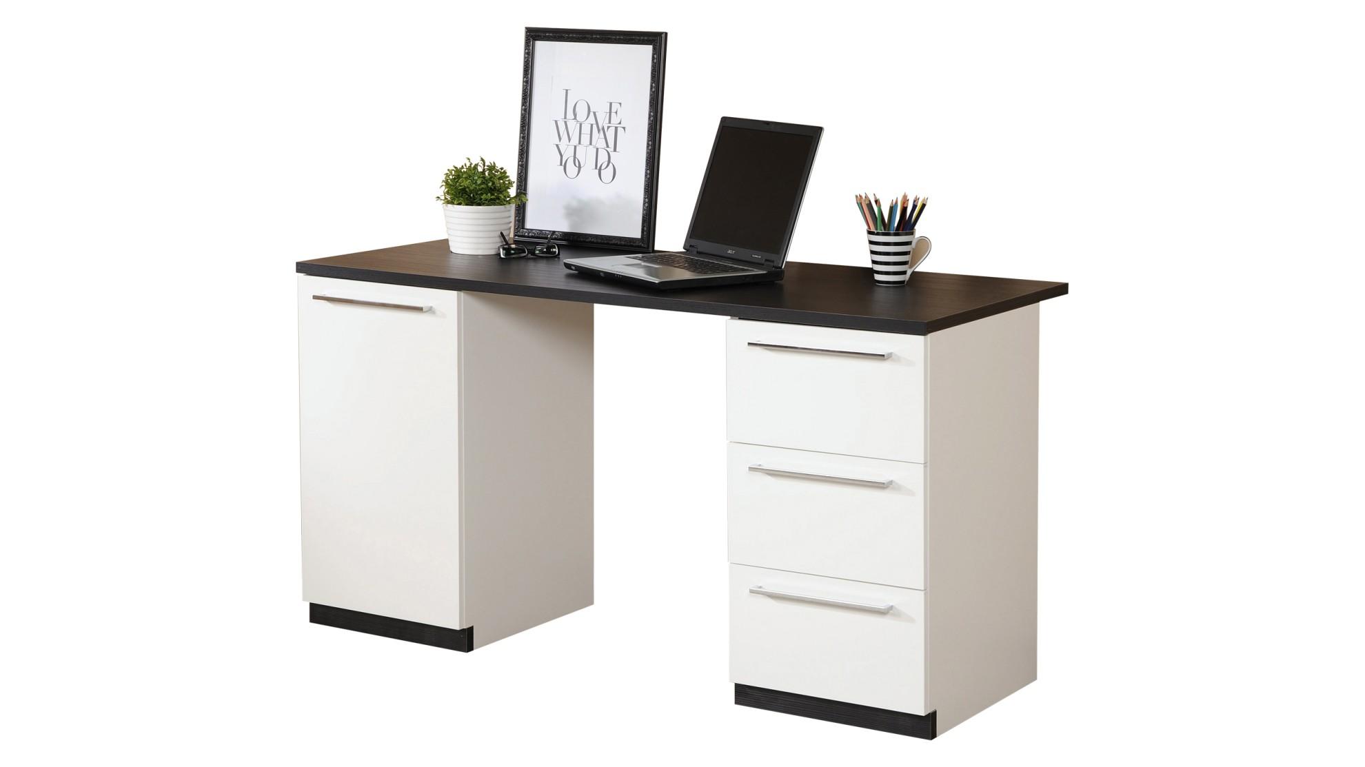 Line- tietokonepöytä laatikostolla, valitse kansiväri.