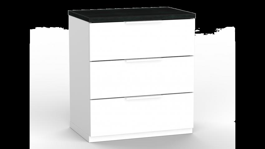 CITY lipasto-yöpöytä 3 laatikkoa