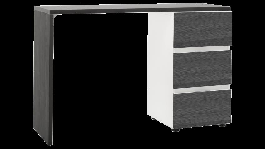 TEEMA-työpöytä valkoinen/tummanharmaa