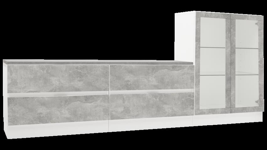 TEEMA-ryhmä 9 valkoinen/betoni
