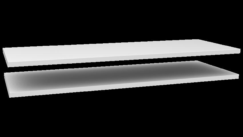 MONACO-vitriini leveä levyhyllyt 2kpl