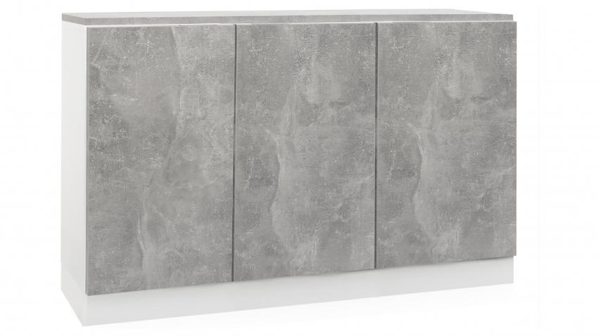 TEEMA-ryhmä 34 kannella valkoinen/betoni