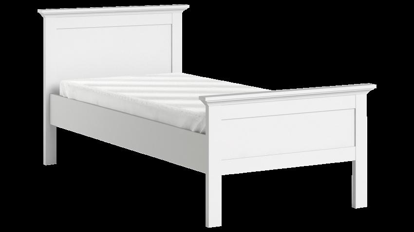 PARIS-sänky 90x200 cm, valkoinen