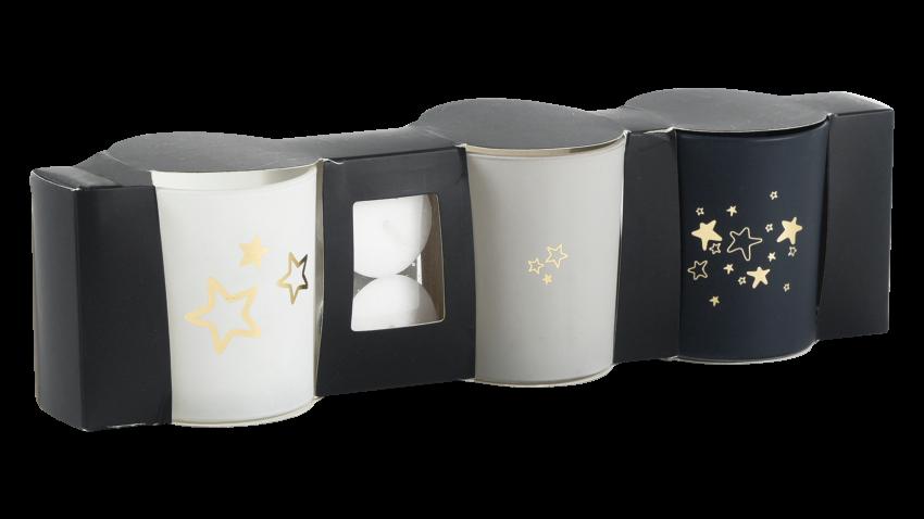 STAR-kynttiläsetti 3-osainen