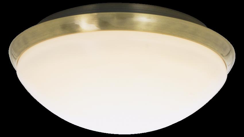 Aneta SIRACUSA-plafondi led valkoinen-messinki
