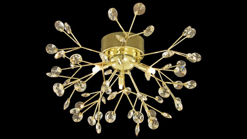 Aneta VIVA-kristalli plafondi messinki