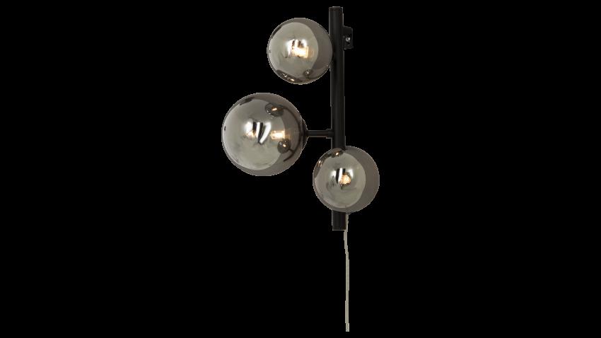 Scan Lamps MOLEKYL-seinävalaisin musta