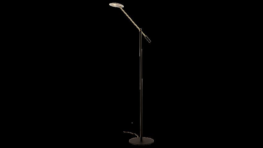 Aneta CADIZ-lattiavalaisin LED musta/messinki