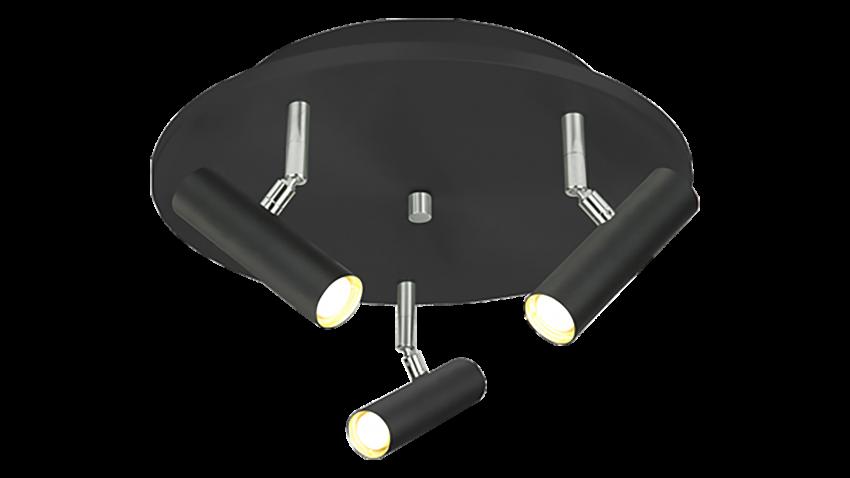 Scan Lamps ARTIC-spotti 3os pyöreä LED musta