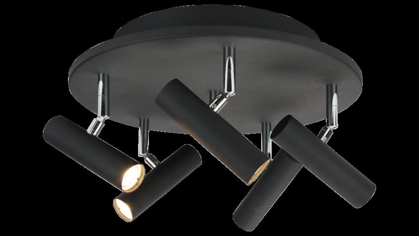 Scan Lamps ARTIC-spotti 5os pyöreä LED musta