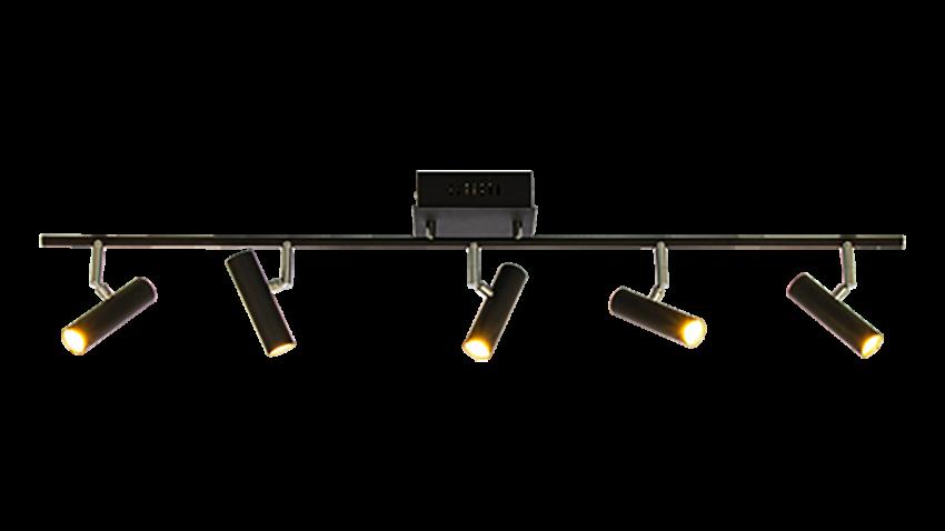 Scan Lamps ARTIC-spotti 5os suora LED musta