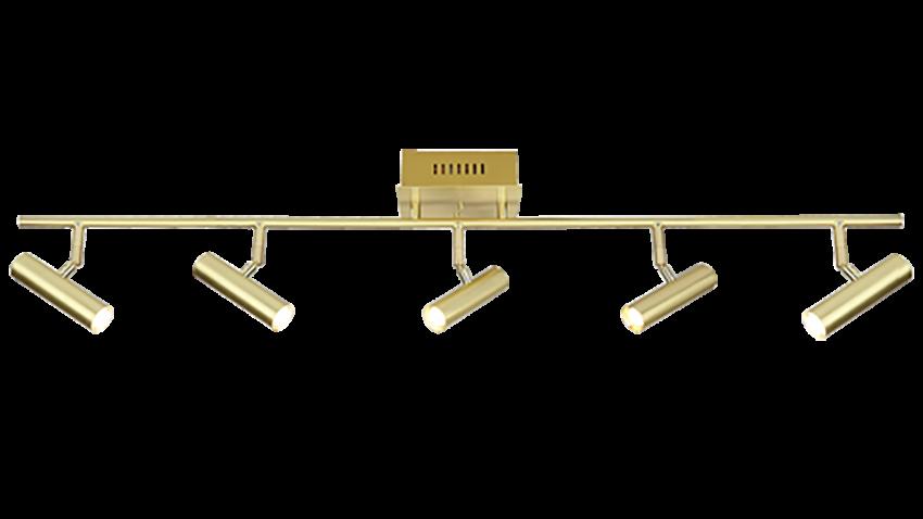Scan Lamps ARTIC-spotti 5os suora LED messinki