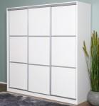 SAND-liukuovikomero 197/45 levyovilla, 197 x 45 cm (valkoinen/ valkoiset levyovet)