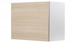 MONACO-seinähylly kapea (valkoinen/tammi)