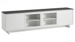 FIINI tv-taso 216 lasiovet valkoinen/antrasiitti