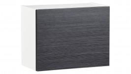 MONACO-seinähylly kapea (valkoinen/musta)
