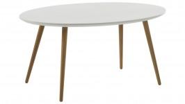 NOORA-sohvapöytä, 100 cm (valkoinen/tammi)