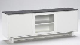 FIINI tv-taso 163 levy/lasi valkoinen/antrasiitti