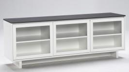 FIINI tv-taso 163 lasiovet valkoinen/antrasiitti