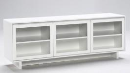 FIINI tv-taso 163 lasiovet valkoinen