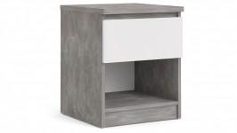 SOLA 1-lipasto, 41 x 50 cm (betoni/korkeakiilto valkoinen)