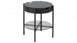 TIPTON-sohvapöytä 45 pyöreä lasi/musta