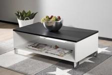MONACO-sohvapöytä, 110 cm (valkoinen/musta)