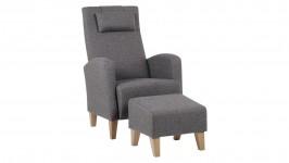 TWIN-nojatuoli ja rahi, Adria-kangas (ruskea)