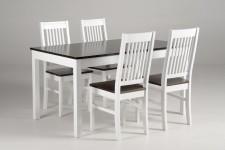 LIIA-jatko ruokailuryhmä, 4:llä tuolilla (valkoinen/tumma pähkinä)