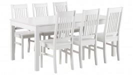 LIIA-ruokailuryhmä, 6:lla tuolilla (valkoinen)