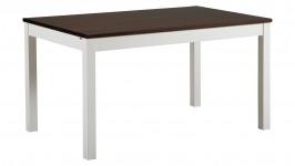 LISA-ruokapöytä, 140cm (valkoinen/tumma pähkinä)
