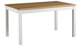 OONA-ruokapöytä 140cm (valkoinen/tammi 85x140cm)
