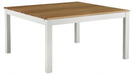 OONA-ruokapöytä 140x140cm (valkoinen/tammi 140x140cm)