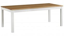 OONA-ruokapöytä 240cm (valkoinen/tammi 100x240cm)