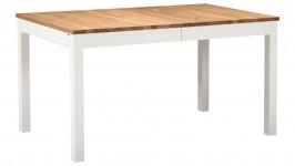 OONA-jatkopöytä 140 + 40cm (valkoinen/tammi 85x140cm + 40cm)