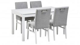 LISA-jatko ruokailuryhmä, 4:llä Salla- tuolilla (valkoinen)