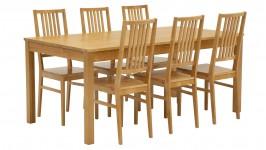 LISA-ruokailuryhmä, 6:lla tuolilla (pyökki)