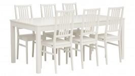 LISA-ruokailuryhmä, 6:lla tuolilla (valkoinen)