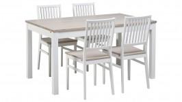 IIDA-ruokailuryhmä, 4:llä tuolilla (valkoinen/nordic tammi)