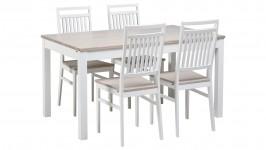 OONA-ruokailuryhmä, 4:llä tuolilla (valkoinen/nordic tammi)