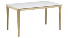 SCANDIC-ruokapöytä (valkoinen/koivu)