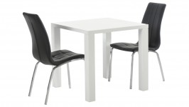 WHITE-ruokailuryhmä, 2:lla CASE-tuolilla (valkoinen/musta)