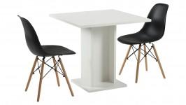 SARA-ruokailuryhmä, 2:lla TIME-tuolilla (valkoinen/musta)