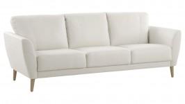 ARIA-sohva 3XL, Nahka/keinonahka (valkoinen nahka/keinonahka)