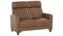 KAISLA-sohva, Nahka/Keinonahka (ruskea)