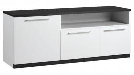 MONACO tv-taso, 143 cm (valkoinen/musta)
